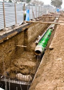 utilty contractor sewage pipeline